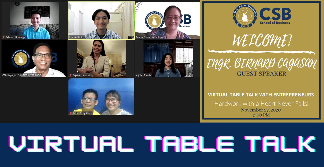 Virtual Table Talk with Entrepreneurs